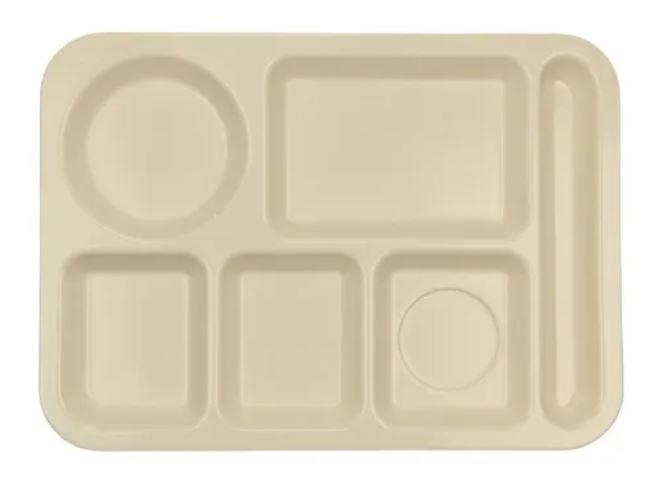Charola 5 compartimentos c/porta-cubiertos 35.7 x 25.2
